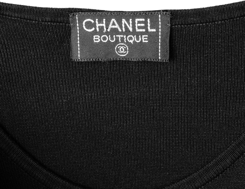Chanel Spring 1992 Embroidered Logo Front One-Piece