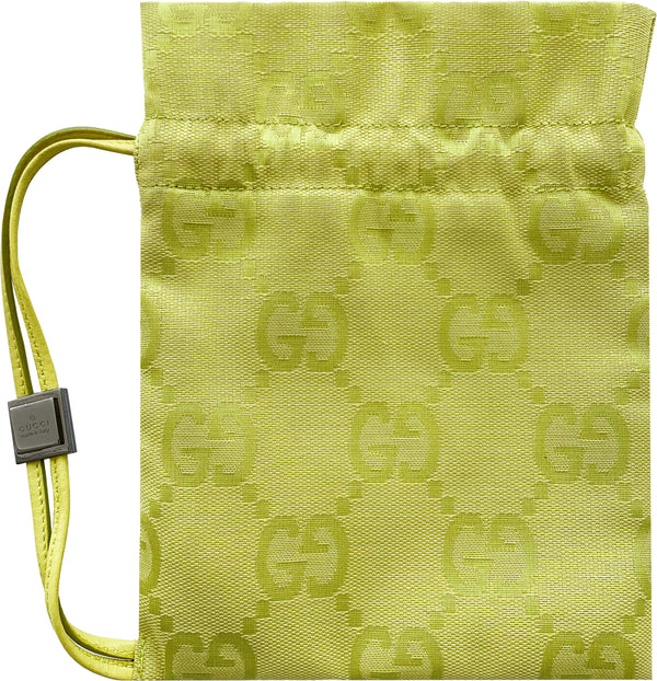 Gucci Monogram Mini Drawstring Wristlet
