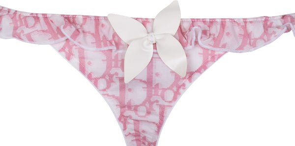 Christian Dior Embellished Diorissimo Girly Thong