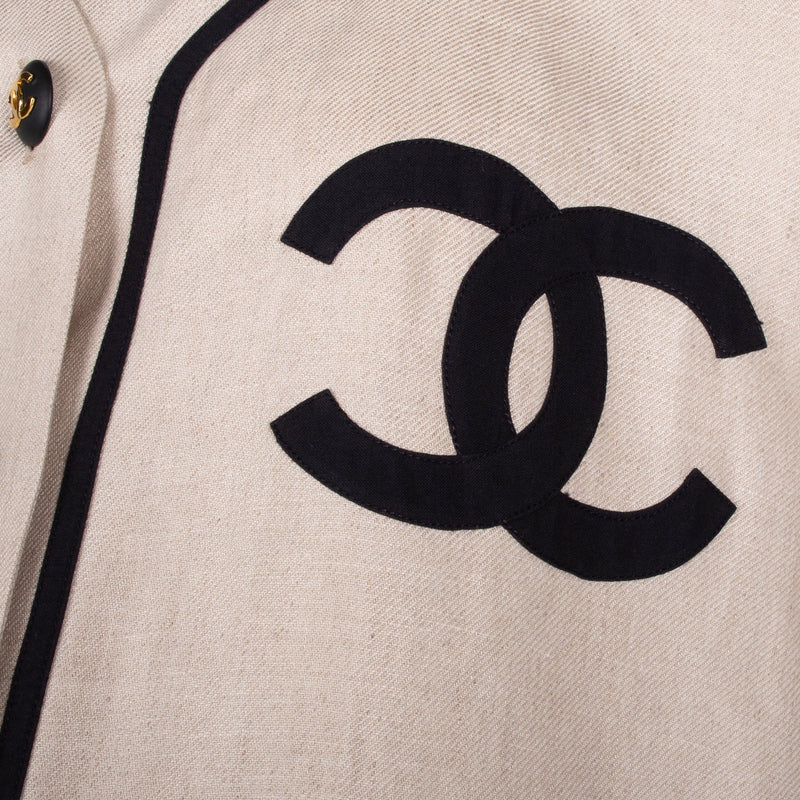 Chanel Logo Jersey Top