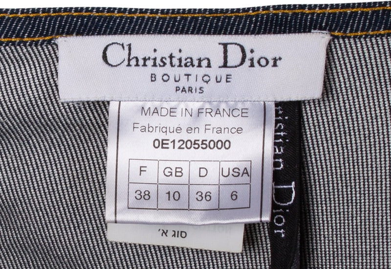 Christian Dior Spring 2000 Runway Saddle Halter Denim Top