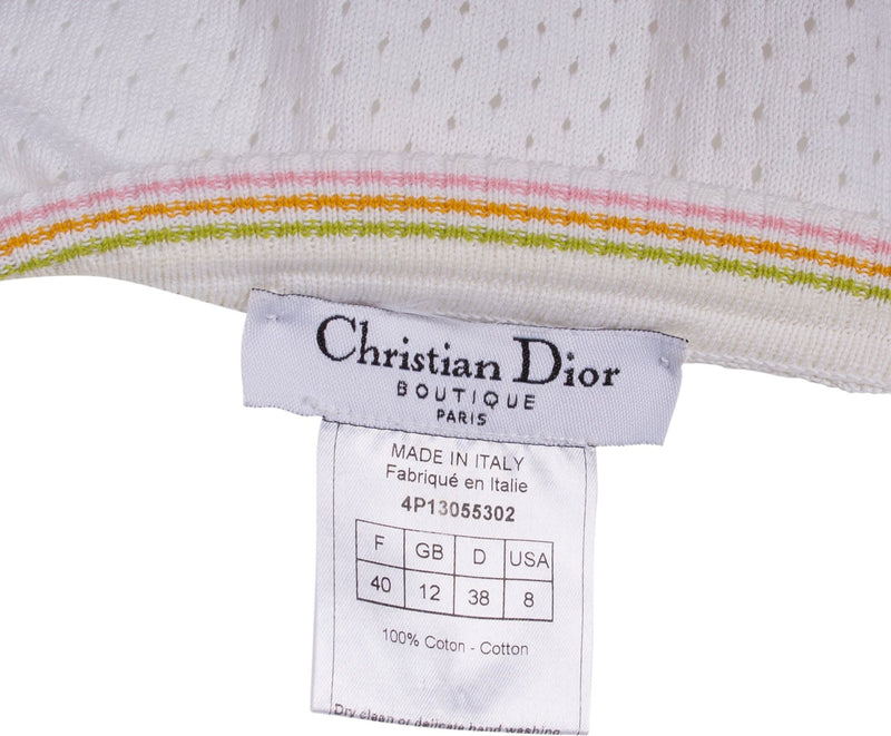 Christian Dior Mesh Logo Tube Top