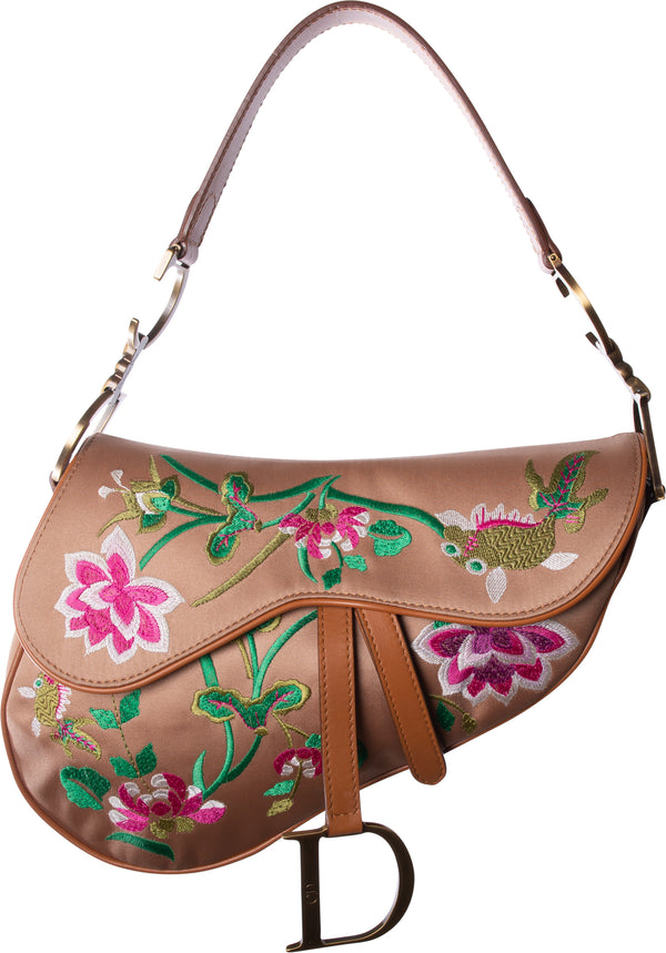Christian Dior Limited Edition Hawaii Festival Saddle Bag