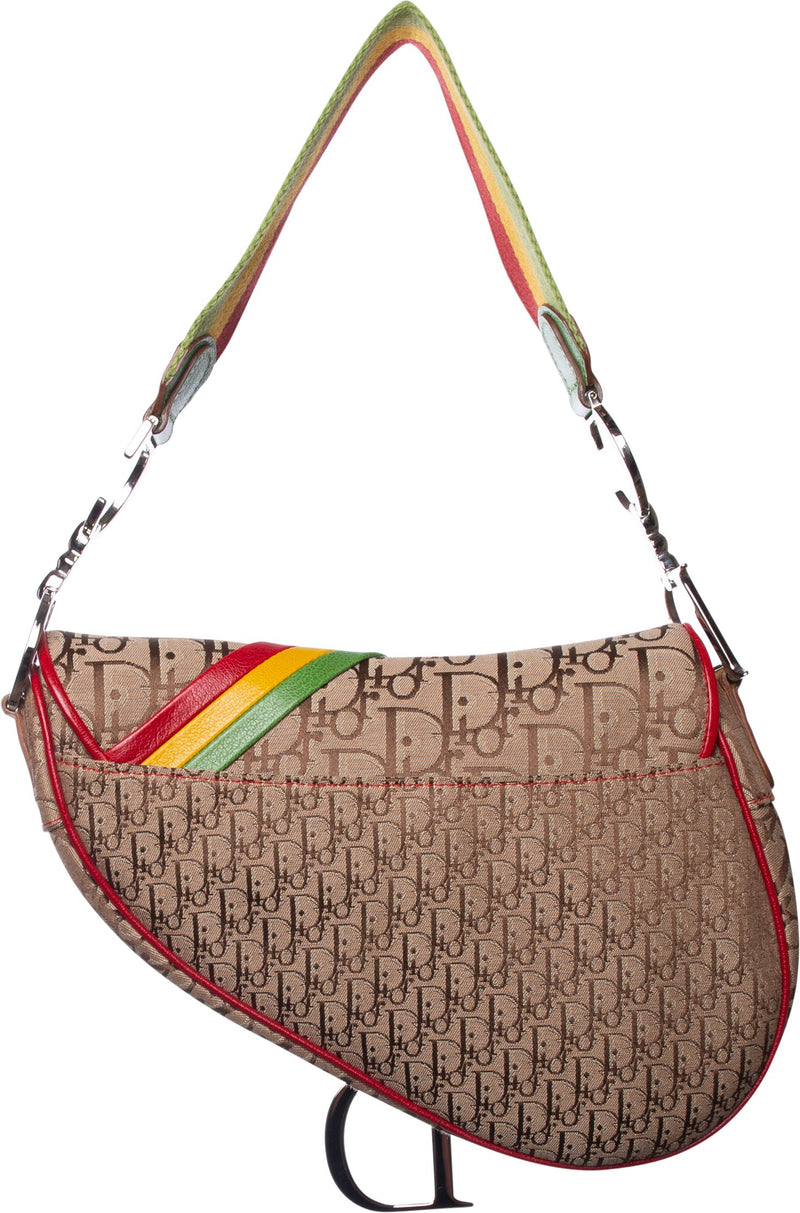 Christian Dior Rasta Saddle Bag