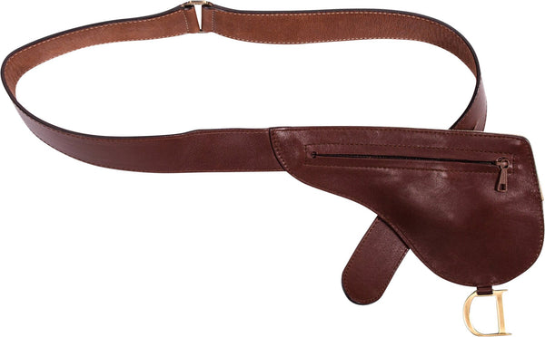 Christian Dior Canvas Leather Saddle Waist Bag