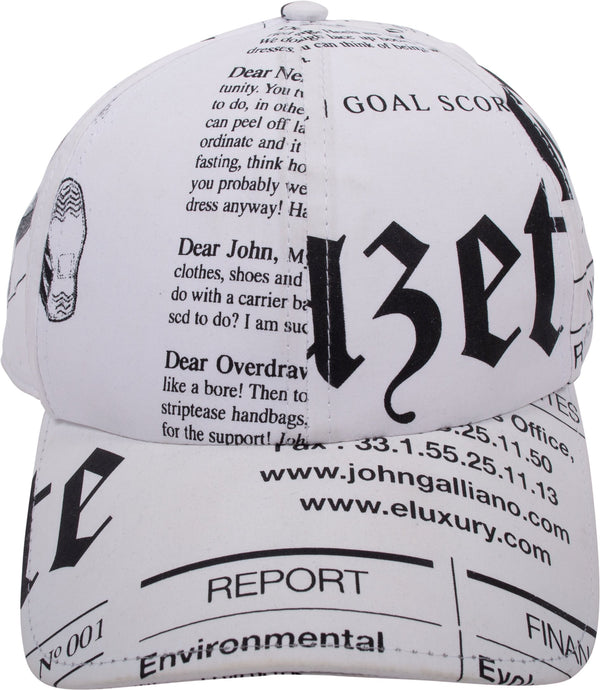 John Galliano Gazette Newspaper Hat