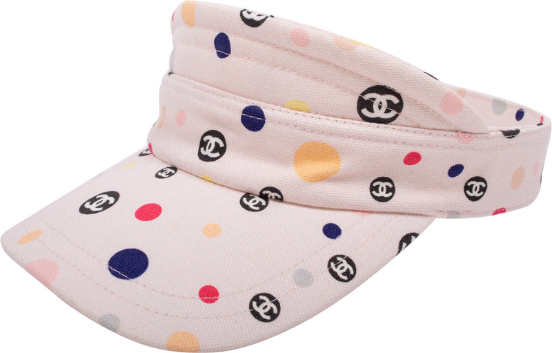 Chanel Logo Dot Visor Hat