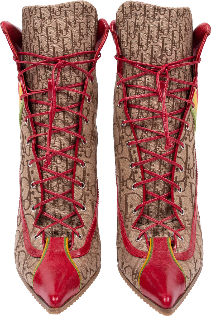 Christian Dior Rasta Diorissimo Lace-up Boots