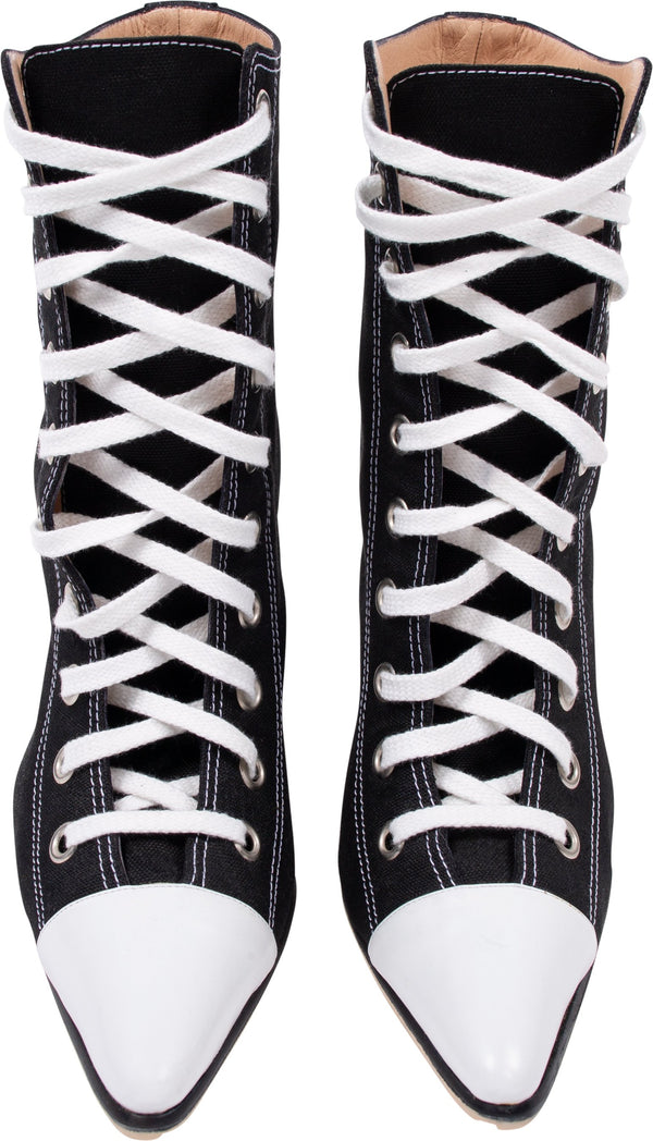 Manolo Blahnik Lace-up Canvas Sneaker Boots