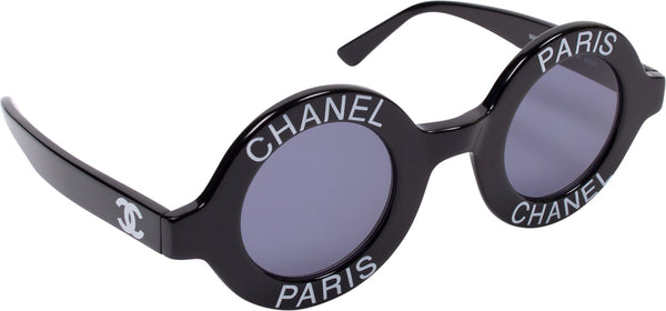 Chanel Logo Round Spring 1993 Runway Sunglasses