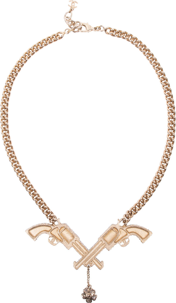Chanel Pre-Fall 2014 Runway Paris Dallas Gun Necklace