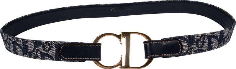 Christian Dior Diorissimo Gold Logo CD Belt