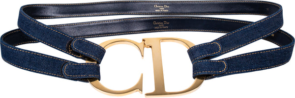 Christian Dior Iconic Giant CD Denim Belt