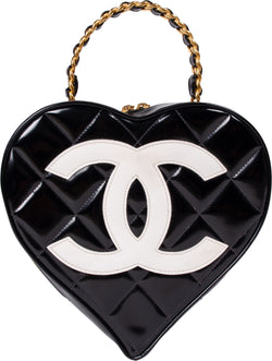 Chanel Spring 1995 Quilted Heart Vanity Bag