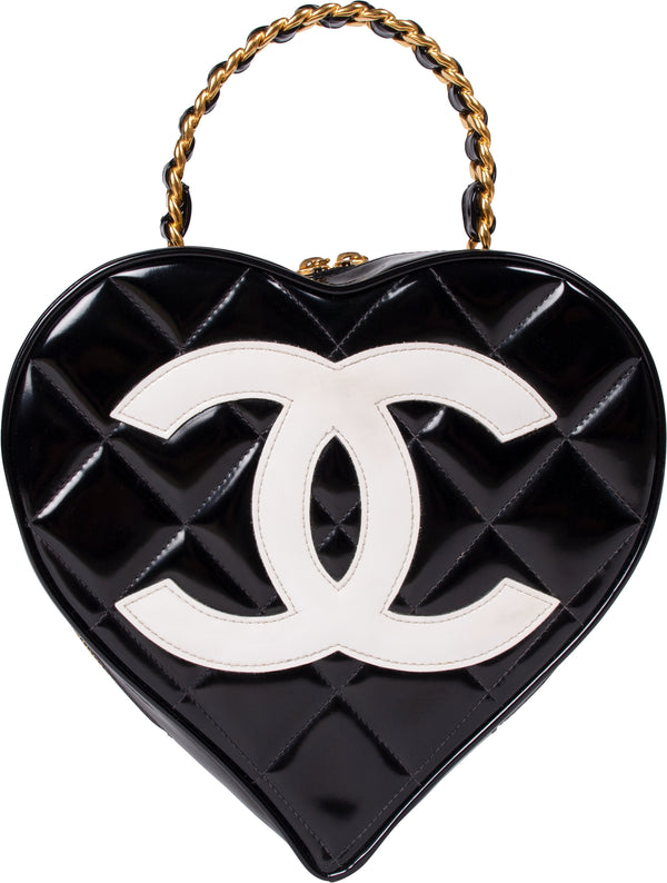 Chanel Quilted Heart Vanity Bag 1995