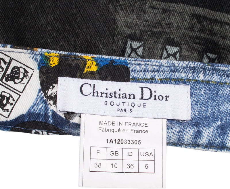 Christian Dior Miss Diorella Trompe L'oeil Mini Skirt