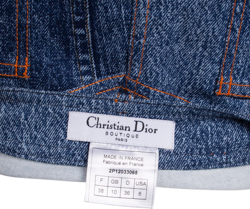 Christian Dior Trompe L'oeil Denim Skirt