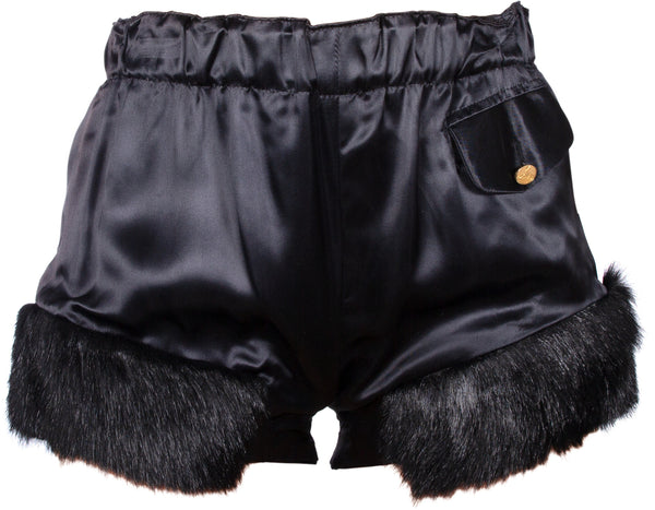 Vivienne Westwood Fall 1991 Runway Faux Fur Hot Pants
