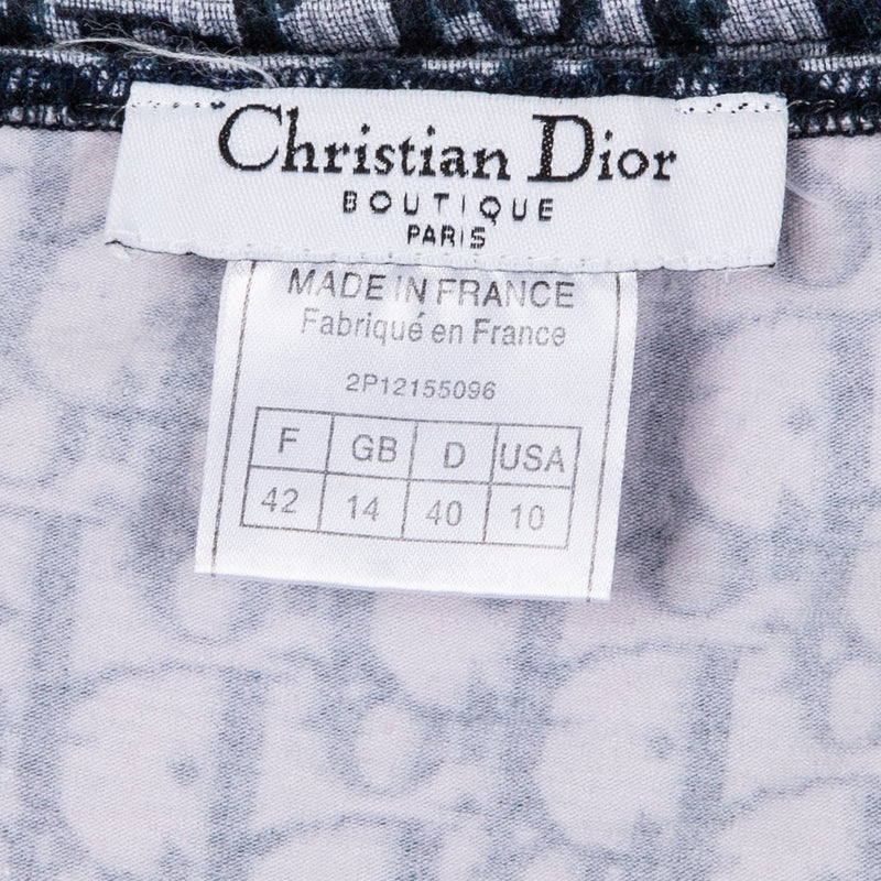 Christian Dior Diorissimo Navy Tube Top