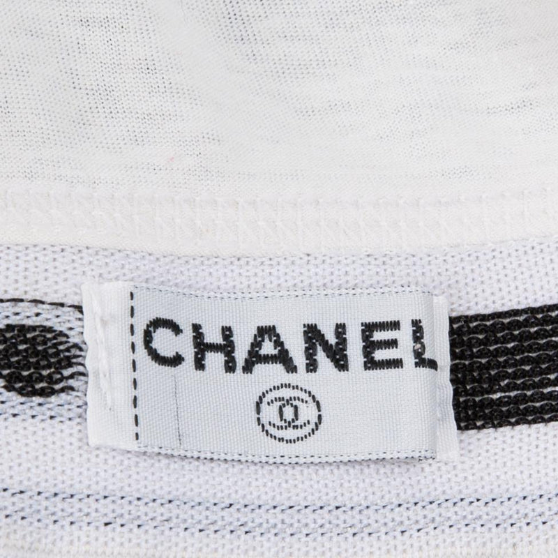 Chanel Logo Cropped Sports Bra Top