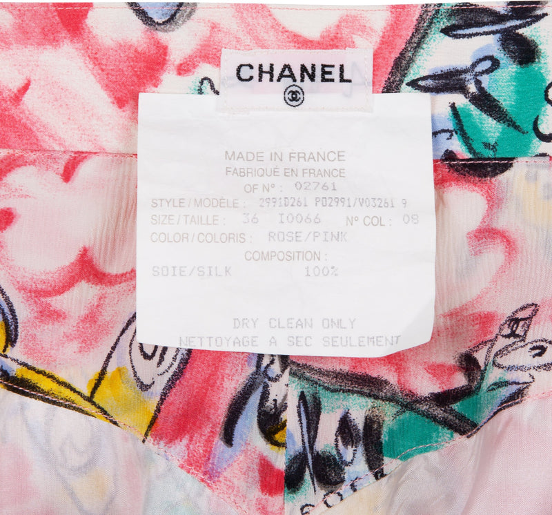 Chanel Spring 1994 Runway Pink Airplane Top Shorts Set