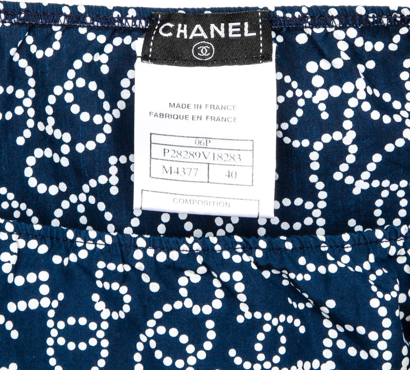 Chanel Spring 2006 Pearl Logo Mini Skirt