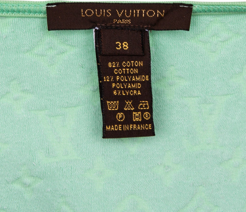 Louis Vuitton Mint Velour Logo Jacket
