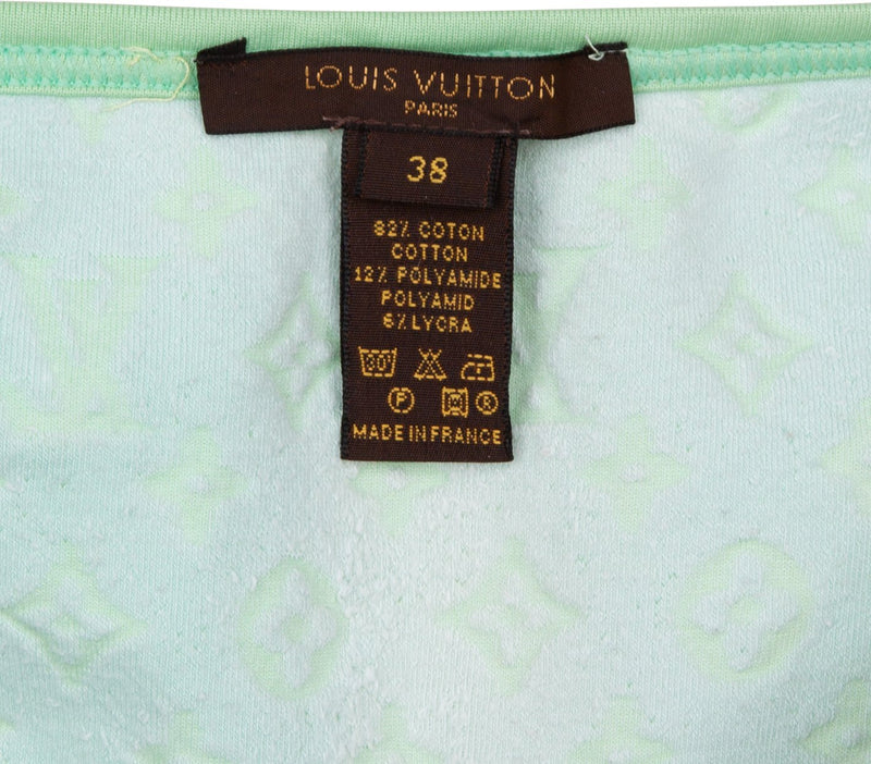 Louis Vuitton Mint Velour Logo Bikini