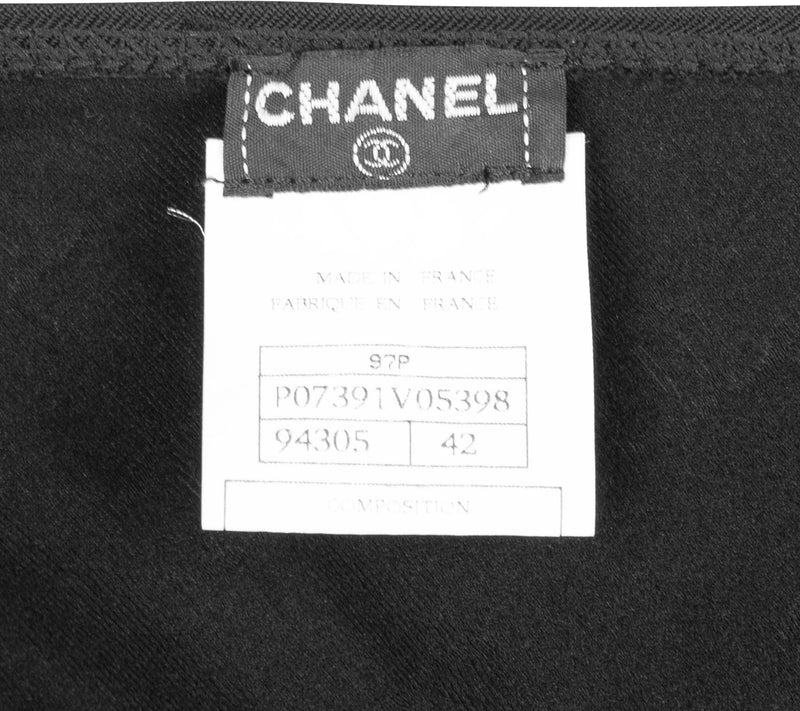 Chanel Spring 1997 Black Embroidered Logo Jumpsuit