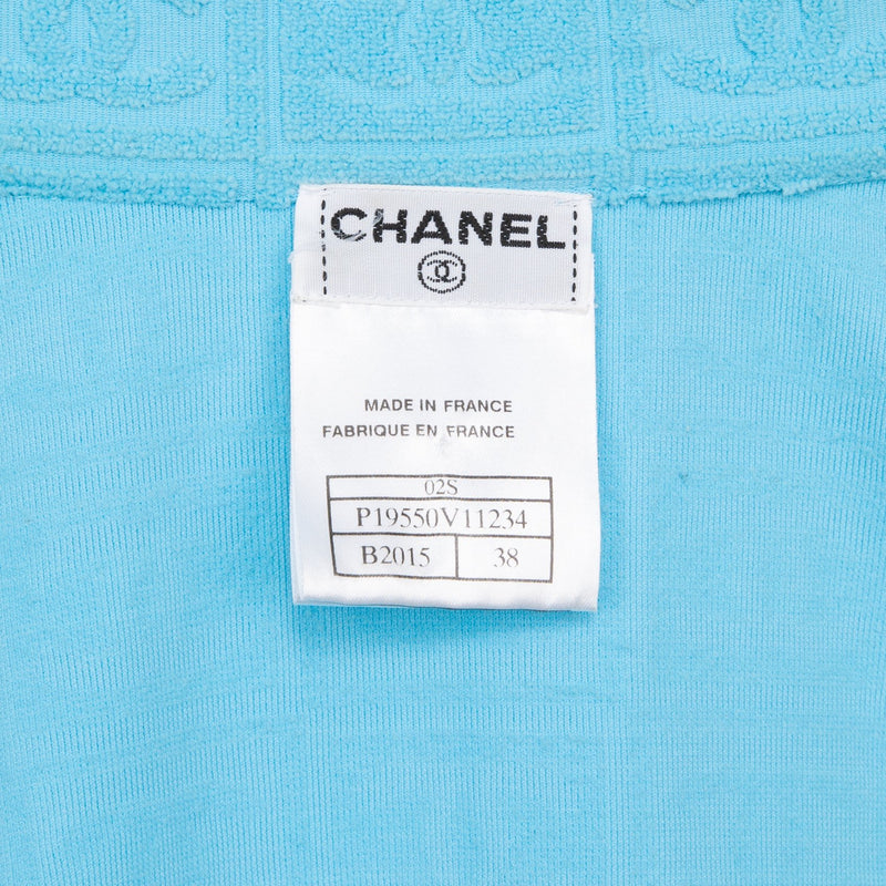 Chanel Spring 2002 Terrycloth Logo Suit