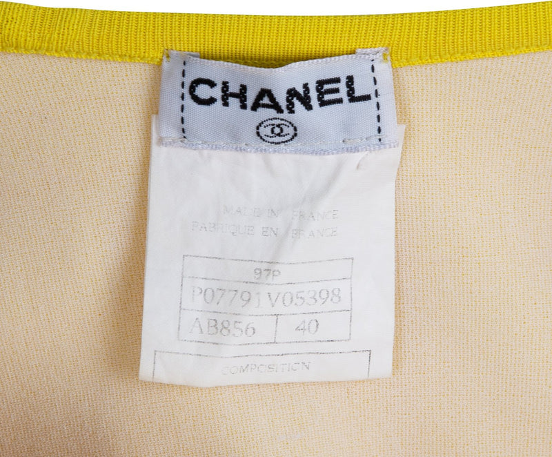 Chanel Spring 1997 Yellow Logo One-Piece