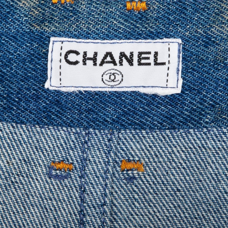 Chanel Spring 1994 Runway Logo Pocket Jeans