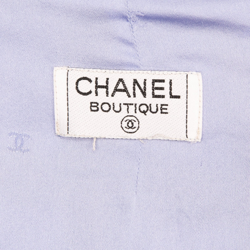 Chanel Spring 1995 Blue Tweed Campaign Runway Suit
