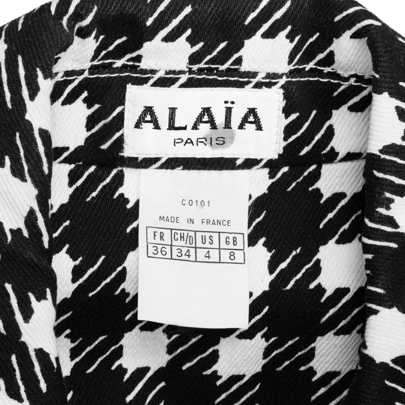 Alaïa Spring 1991 Runway Tati Houndstooth Jacket Pants Ensemble