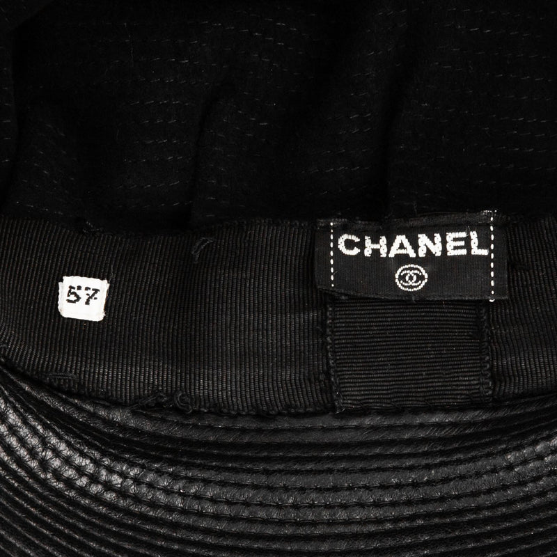 Chanel Fall 1991 Leather Chain Biker Hat