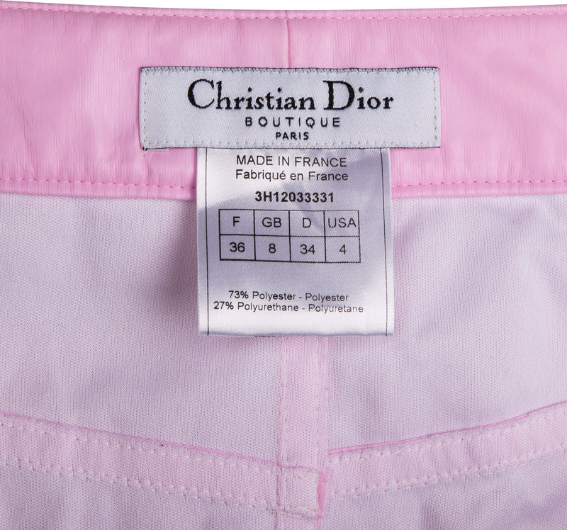 Christian Dior Pink Fall 2003 Runway Faux Leather Skirt