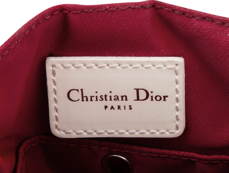 Christian Dior Burgundy Diorissimo Mini Crossbody Bag