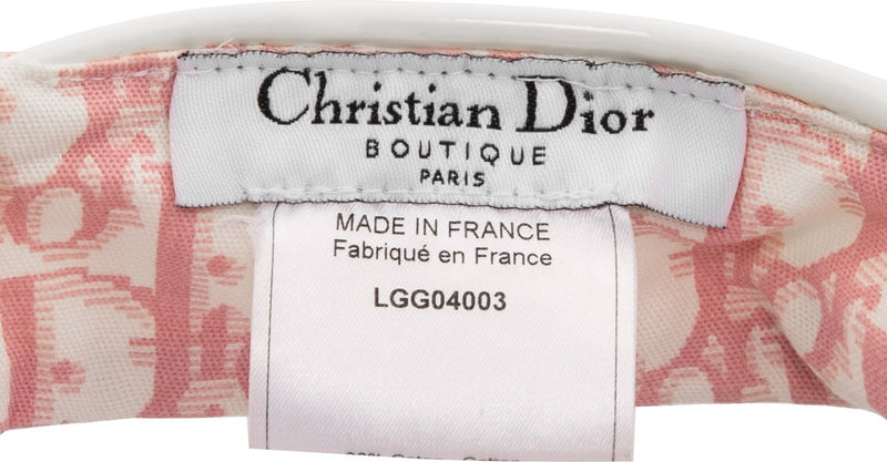 Christian Dior Diorissimo Girly Embellished Visor Hat