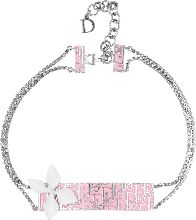 Christian Dior Girly Diorissimo Embellished Choker Necklace