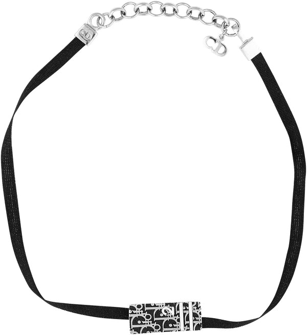 Christian Dior Ribbon Diorissimo Choker Necklace