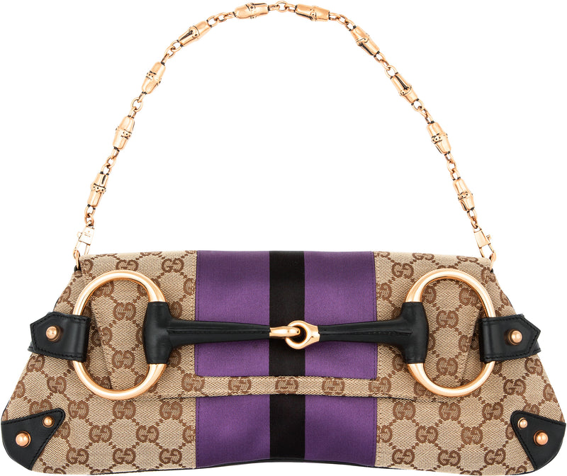 Gucci Monogram Horsebit Embellished Convertible Bag