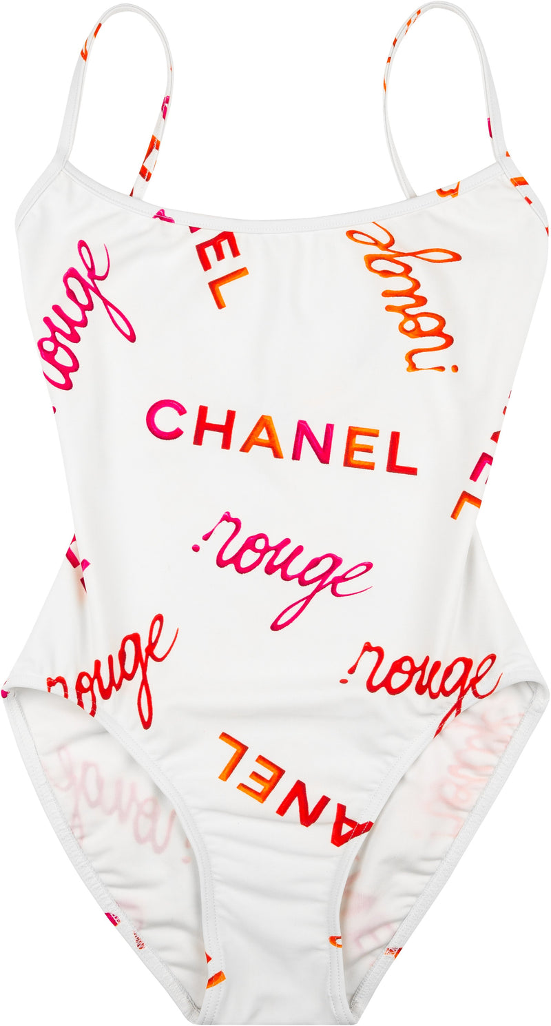 Chanel Spring 1996 Rouge Logo One-Piece