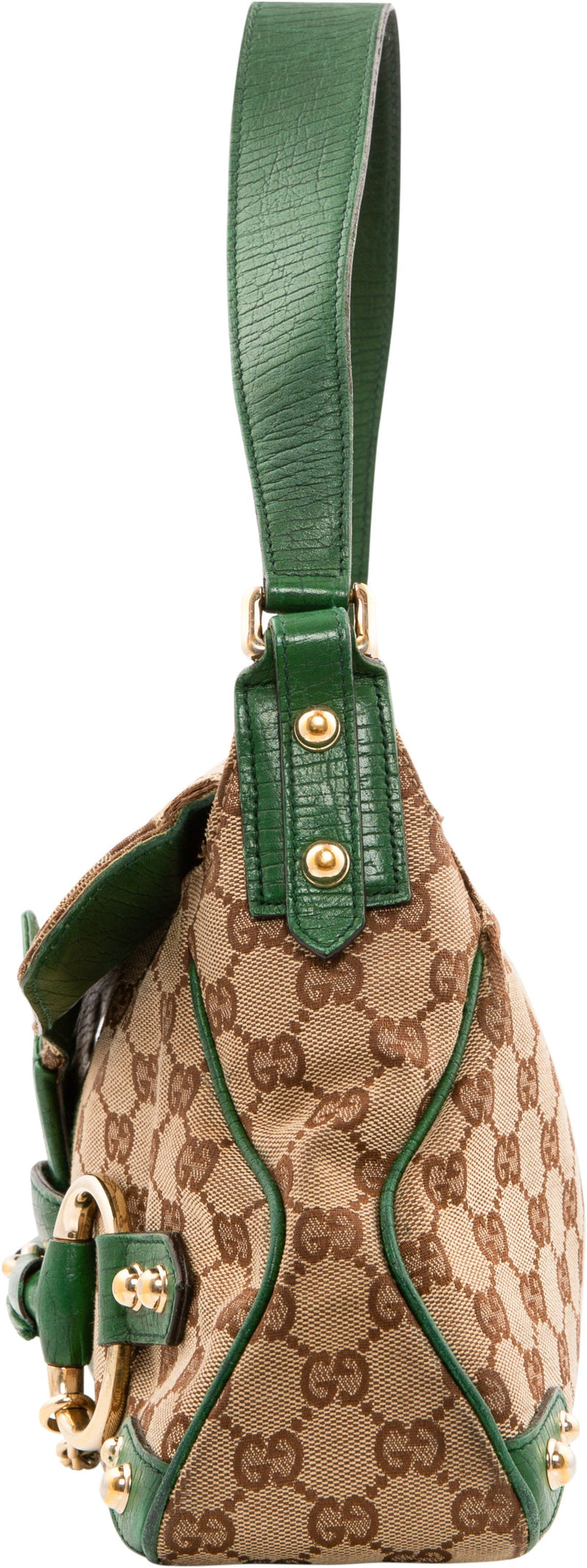 Gucci Monogram Horsebit Embellished Bag