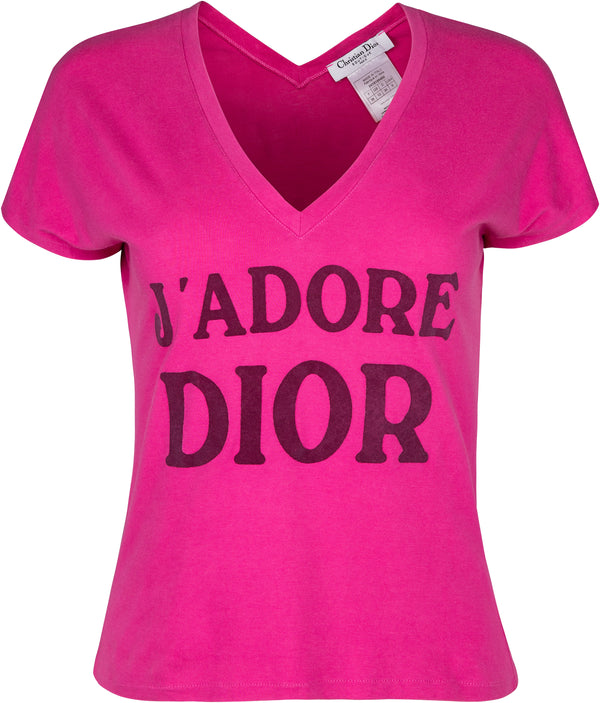 Christian Dior J'Adore Dior V-Neck Top