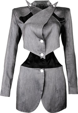 Alexander McQueen Spring 1999 Runway Cut Out Blazer Jacket
