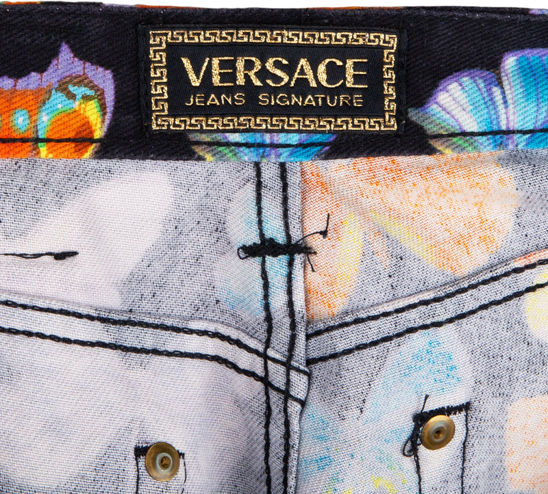 Gianni Versace Spring 1995 Butterfly Jeans