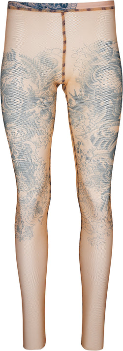 Jean Paul Gaultier Tattoo Mesh Leggings