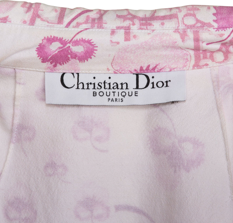 Christian Dior Resort 2005 Logo Flowers Trench Coat