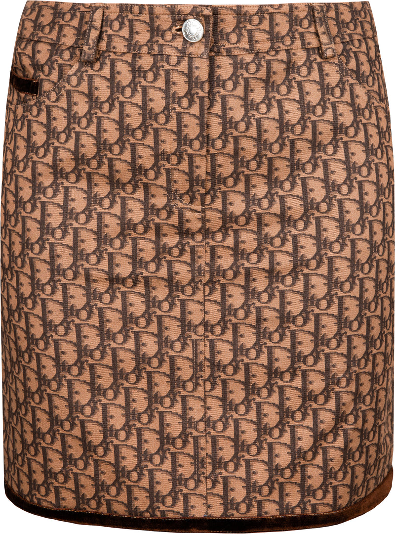 Christian Dior Brown Diorissimo Skirt