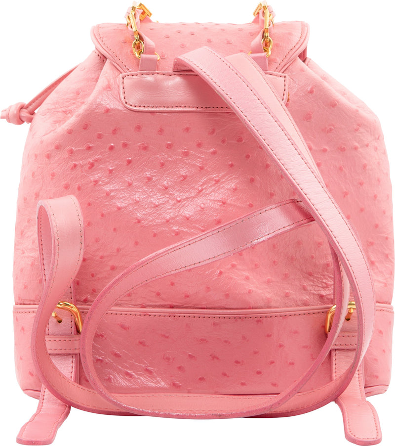 Gianni Versace Leather Embossed Backpack